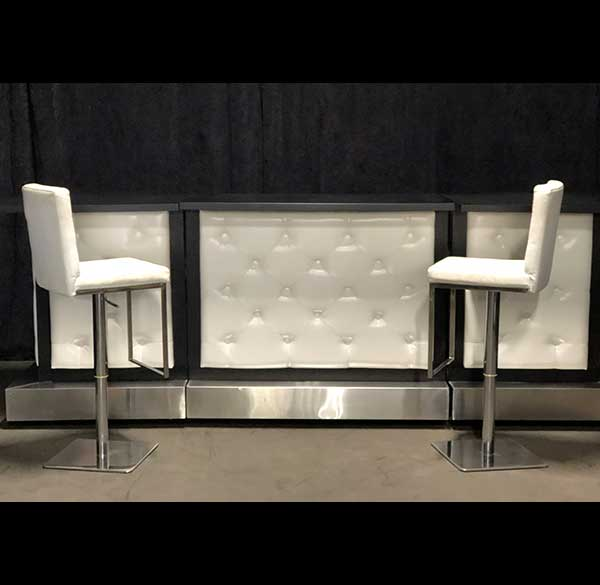 Party Perfect Rentals - Black and White Tufted Bar