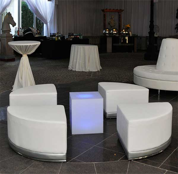 Party Perfect Rentals - Coco Ottoman Cube Combo